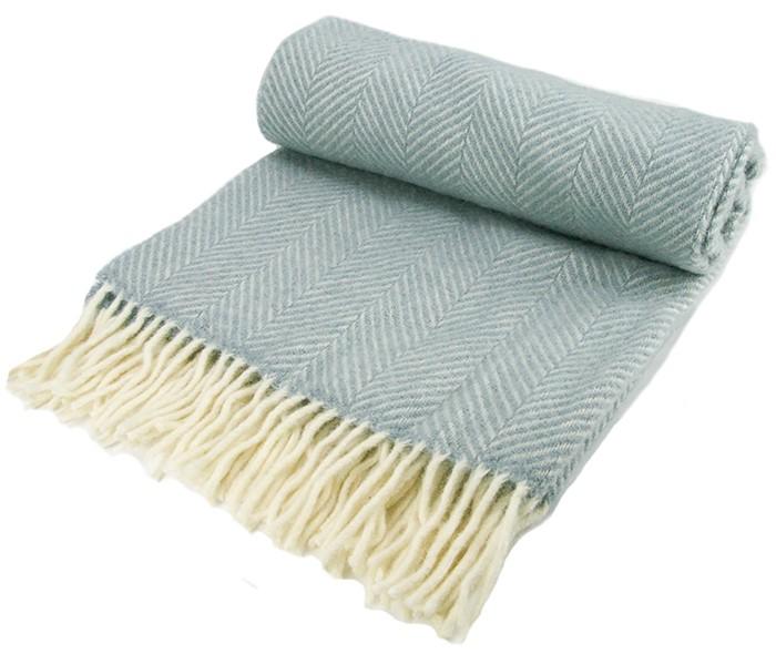 Wool Blanket Online. British Made Gifts. Herringbone Wool