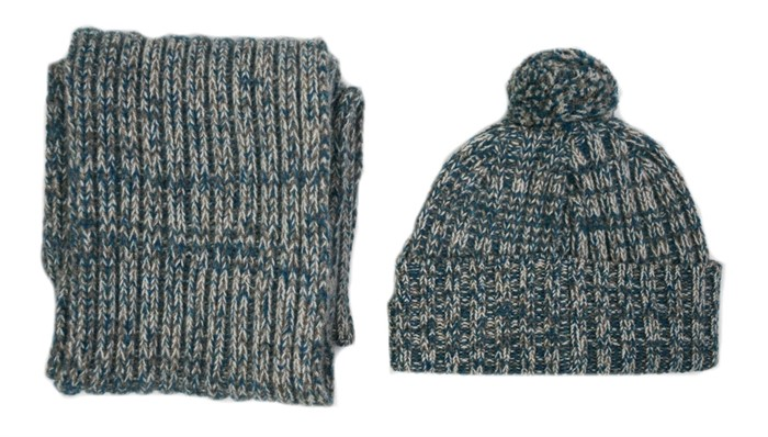 Knitting Pattern Ribbed Bobble Hat : Wool Blanket Online. British made gifts. Lambswool Knitted ...