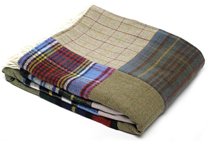Wool Blanket Online British Made Gifts Patchwork Tartan