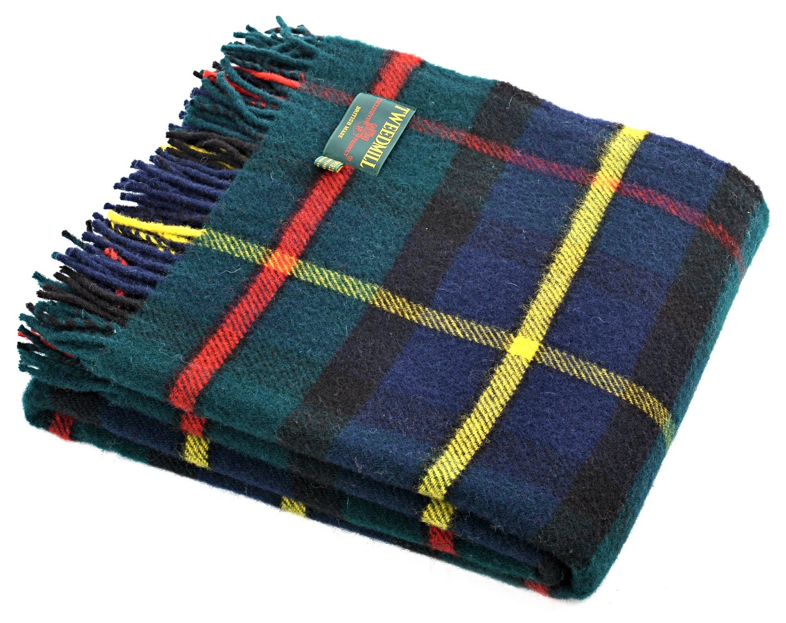 Wool Blanket Online British Made Gifts Hunting Macleod Tartan Picnic