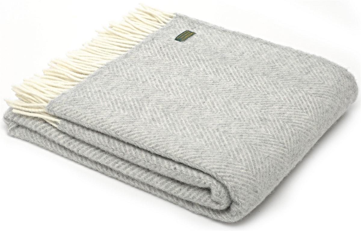 Wool Blanket Online British Made Gifts Herringbone Pure