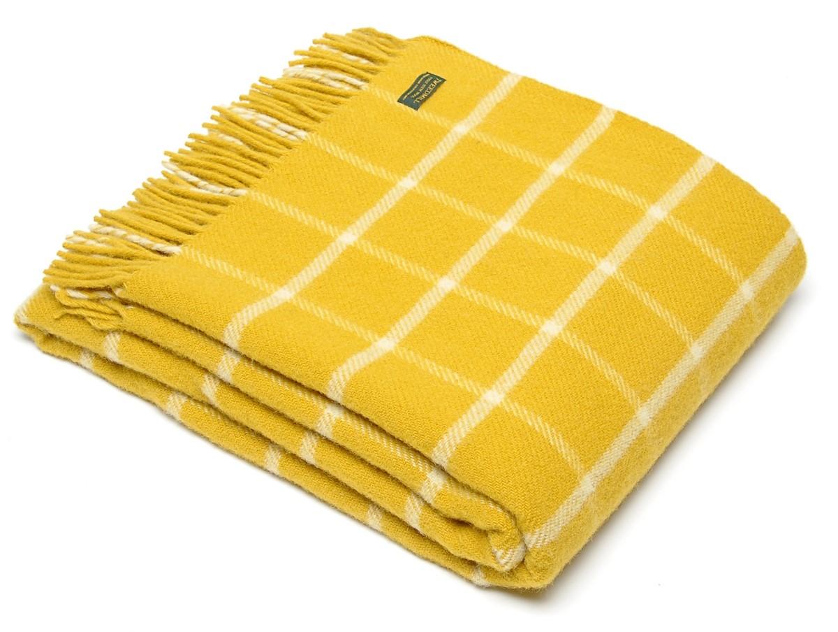 Wool Blanket Online. British made gifts. Windowpane Check ...