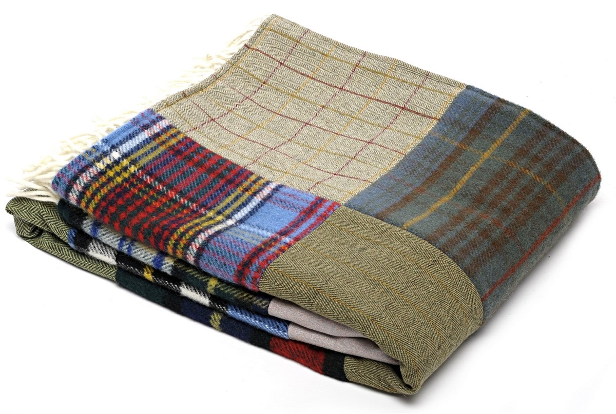 Wool Blanket Online British Made Gifts Patchwork Tartan